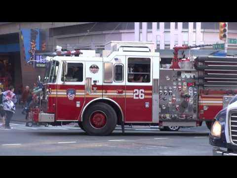 FDNY Engine 26 On Its Way Back To Quarters On W42nd St & 8th Ave