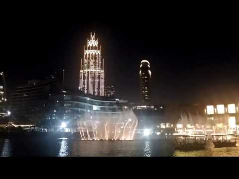 Dubai Water Fountain - Twlht Ana Lsotak by Eida Al Menhali