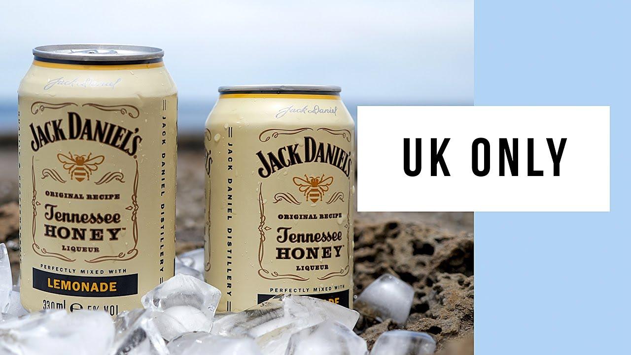 Jack Daniel's Tennessee Honey Liqueur Lemonade Premix UK Only