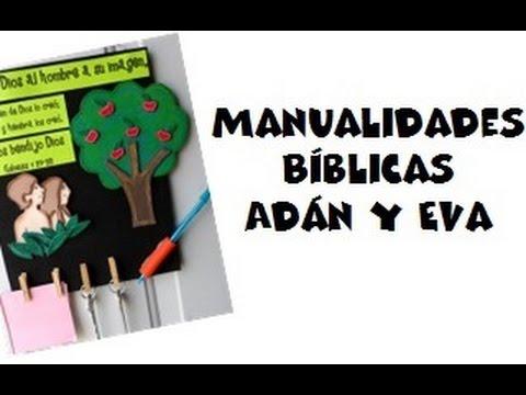 Manualidades Bíblicas Génesis 127 28 Adán Y Eva