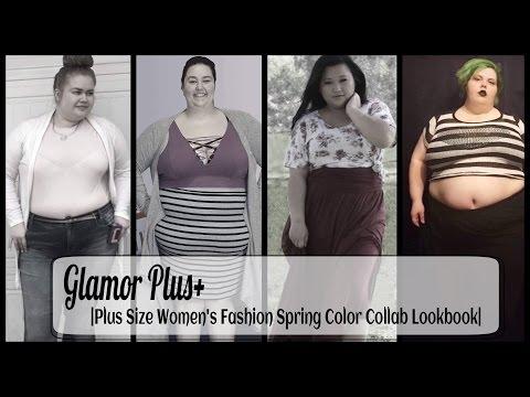 Glamor Plus+ |Plus Size Women's Fashion Spring Color Collab Lookbook|