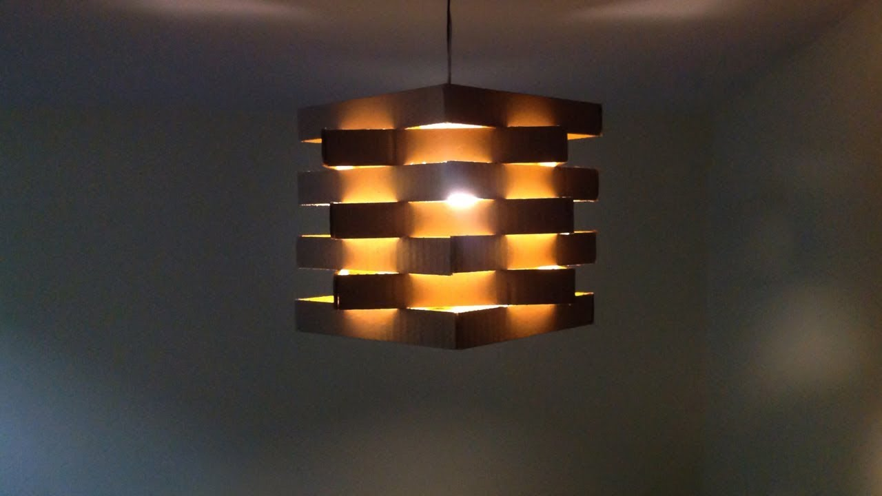 DIY Easy To Make Ceiling Lamp With Carboard At Home
