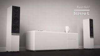 Die weltweit einzigen WLAN-Stereo-Standlautsprecher mit echtem 3-Wege-System - RAUMFELD Stereo L
