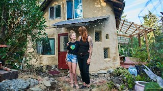 Self Built Cob Earth House Tour!! Constructed Using Only Recycled Materials And Costing $9000.