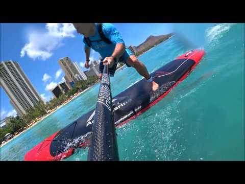 Aqua Marina Monster SUP Small Wave Review Waikiki Beach Hawaii