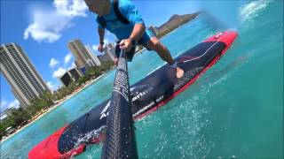 Aqua Marina Monster SUP Small Wave Review Waikiki Beach Hawaii