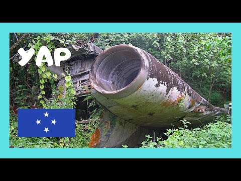 A 1980 Boeing 727 crash site in the forests of YAP (Micronesia, Pacific Ocean)