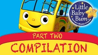 Repeat youtube video Wheels On The Bus Plus Lots More Great Nursery Rhymes from LittleBabyBum!!