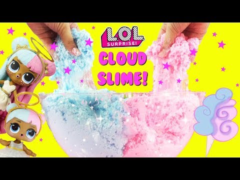 GIANT CLOUD SLIME LOL Surprise Sugar Slime Cotton Candy Toy Suprises