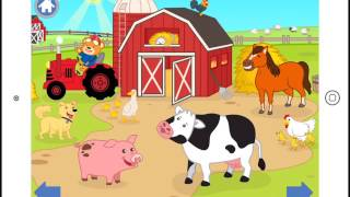Farm Animals Nano Bear iOS App for Babies, Toddlers and Kids :: from n1-lab LTD