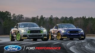 2017 Ford Mustang RTR Test: Vaughn Gittin Jr. and Chelsea DeNofa | Formula DRIFT | Ford Performance