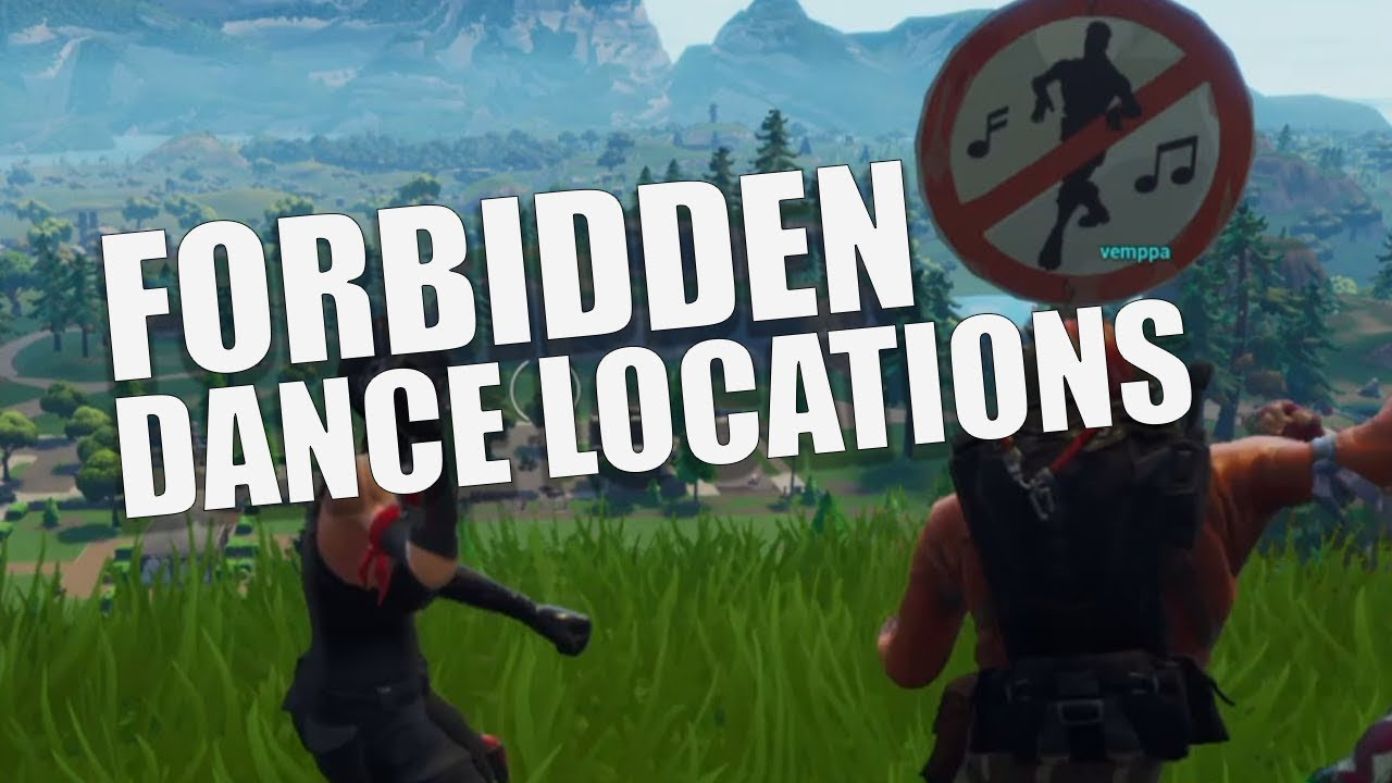 Fortnite Dance In Different Forbidden Locations Guide Youtube