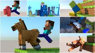 Softbody Simulations Compilation -  Minecraft & Roblox #Softbody 😋