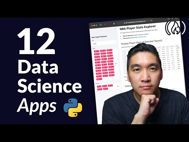 Build 12 Data Science Apps with Python and Streamlit - Full Course