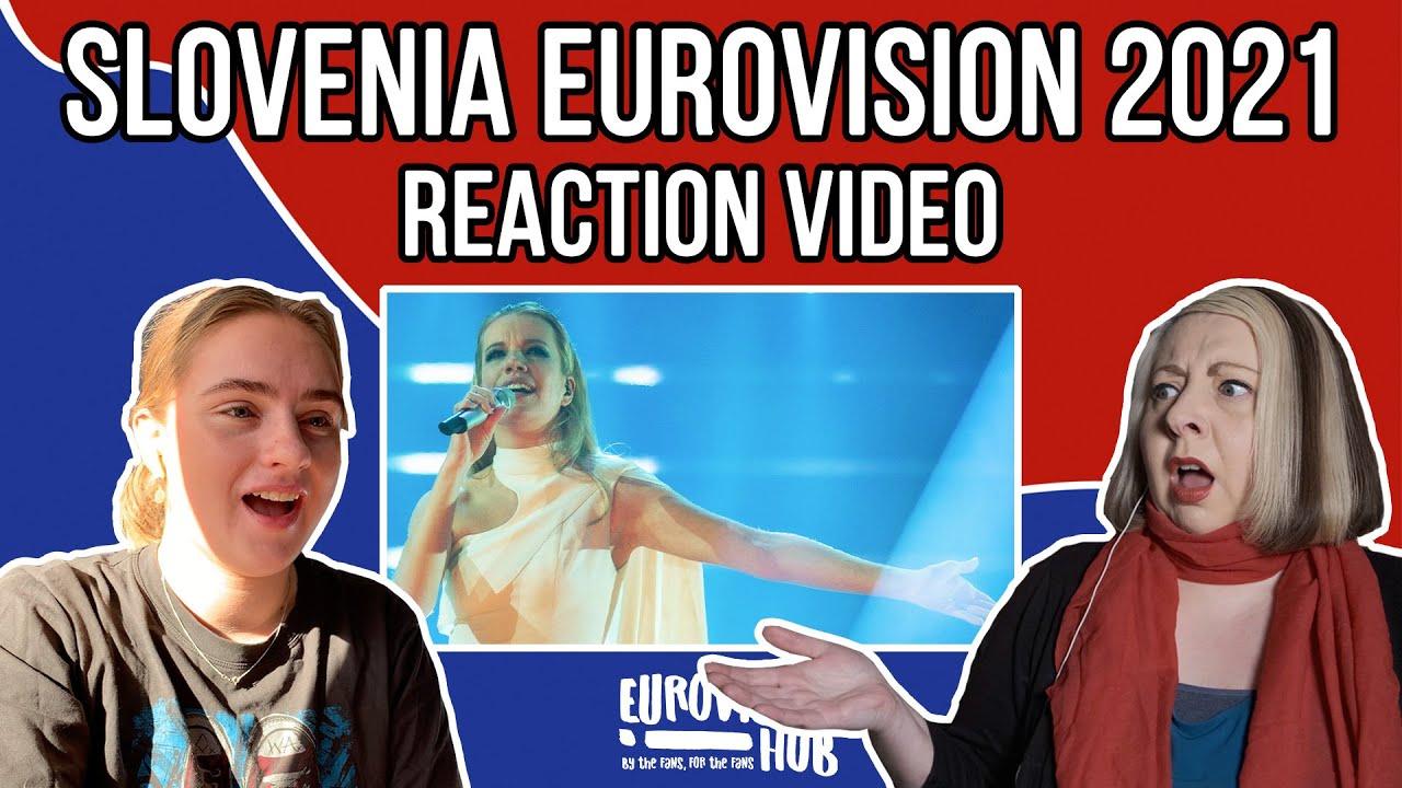 Slovenia   Eurovision 2021 Reaction   Ana Soklič - Amen   Eurovision Hub
