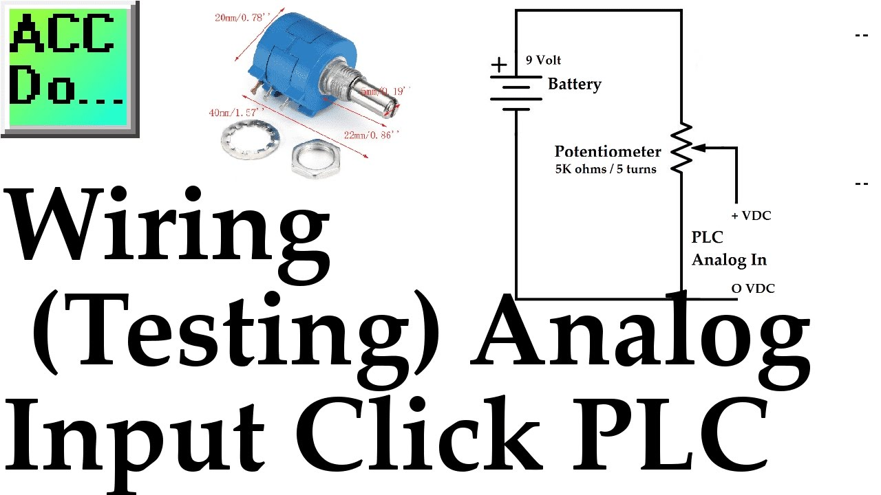 medium resolution of wiring testing analog plc input click