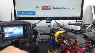 Montaje Drone de Carreras Casero PARTE 9 - Prueba sistema fpv barato