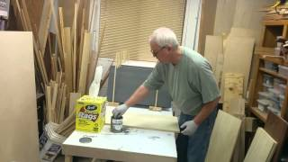 Sewing Cutting Table - Staining Process