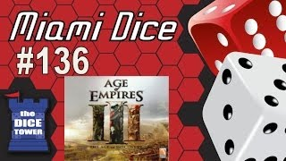 YouTube video Miami Dice, Episode 136 - Age of Empires III: the Board Game