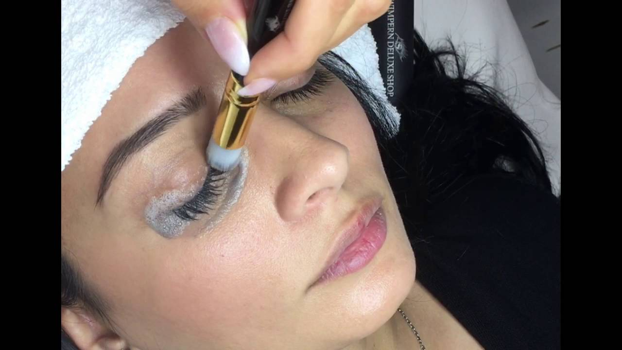 Cleaning Of Eyelash Extensions Youtube