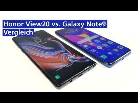 Honor View 20 vs. Samsung Galaxy Note 9 im Vergleich (deutsch HD)