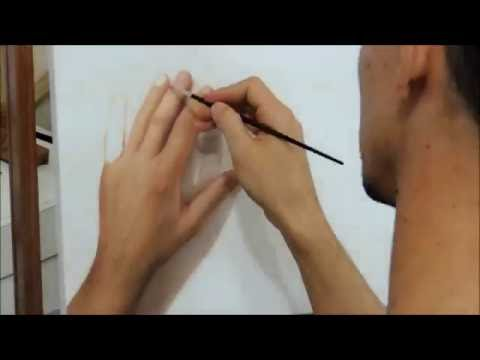 "Hyper-realistic drawing ""Fabiano Millani""  (painting hand)"