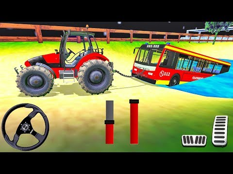 Offroad Towing Chained Tractor Bus 2019 - Tow Truck Rescue Simulator - Android Gameplay #4