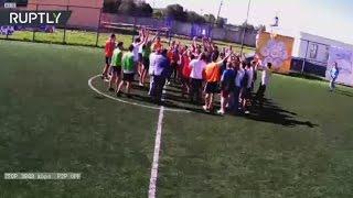 В Твери завершился семидневный матч в мини-футбол(В Твери завершился самый продолжительный матч в мини-футбол: марафон длился семь дней. В настоящий момент..., 2016-08-28T08:19:24.000Z)