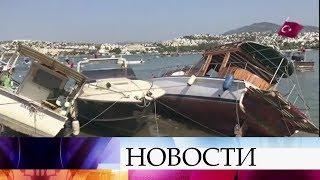 Греция иТурция восстанавливаются после мощного землетрясения, которое произошло вЭгейском море.