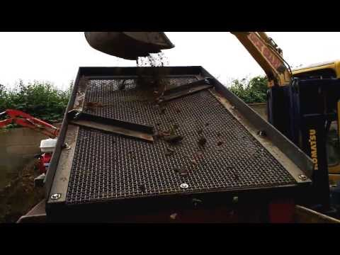VIDEO 2 TEST-TRIAL RUN NEW DEMO SOIL WASTE SCREENER UPRATED MK3 MODEL