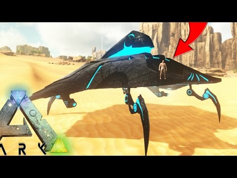 Ark Survival Evolved - UFO / SPACE SHIP, DROPPING NUKES & MISSILES (Ark Scorched Earth Gameplay)