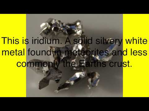 Iridium facts and usage