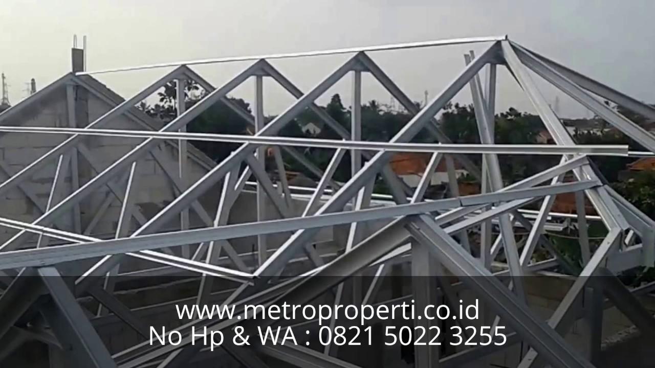 pemasangan atap baja ringan balikpapan jasa pasang rangka youtube