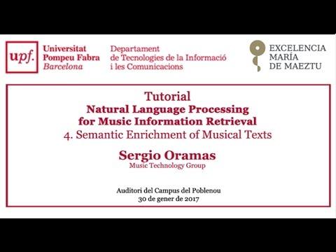 Tutorial - Natural Language Processing.  Semantic Enrichment of Musical Texts