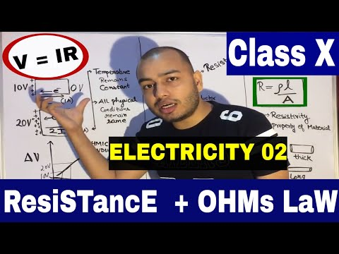 OHMs LaW & ReSisTaNcE : (english) X Class ICSE / CBSE : Electricity 02