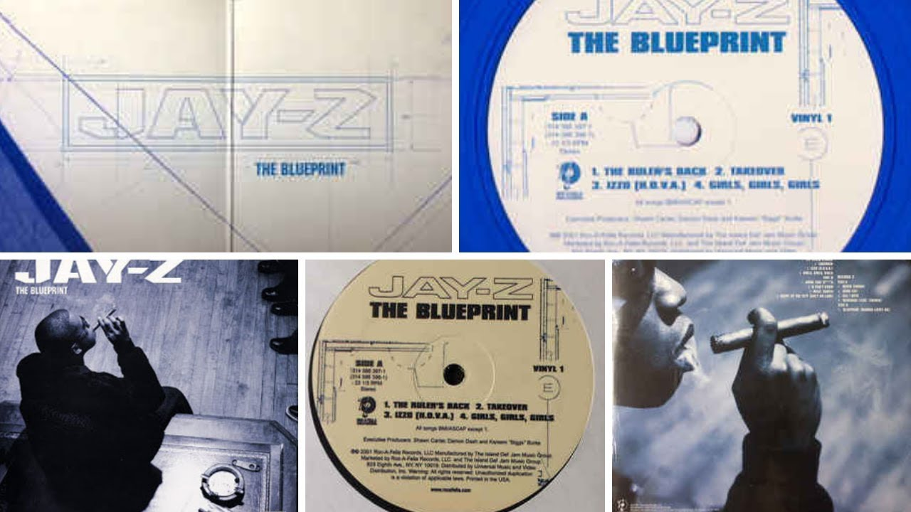 Jay z the blueprint 2001 roc a fella records limited edition jay z the blueprint 2001 roc a fella records limited edition blue vinyl malvernweather Gallery