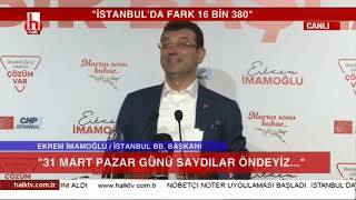 Ekrem İmamoğlu'ndan tarihi konuşma! İstanbul'da İmamoğlu dönemi