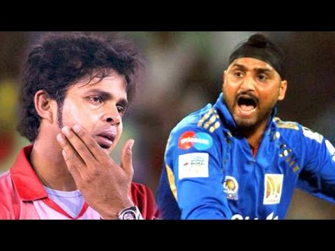 Harbhajan Slapping Sreesanth Incident In IPL 8 - Fights Between Players- Spot Fixing