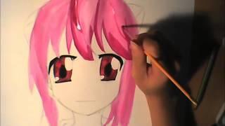 Drawing- Nyu-Lucy aus Elfen Lied