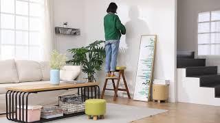 접이식 가정용 계단 의자 다기능 스툴 원목 사다리
