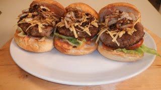 Lamb Burger With Caramelized Onion | Sanjeev Kapoor Khazana
