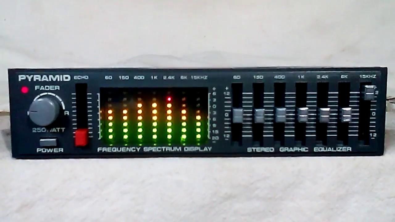 Vintage Pyramid Se708 Echo Eq Spectrum Analyzer Old School Rare