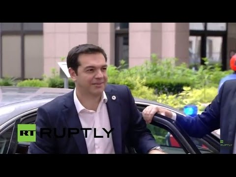 LIVE: Euro Summit on Greece takes place in Brussels: Arrivals