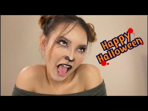 Easy Deer Halloween Makeup Tutorial | HOÁ TRANG HALLOWEEN THÀNH NAI VÀNG ĐƠN GIẢN NHƯNG CỰC XINH