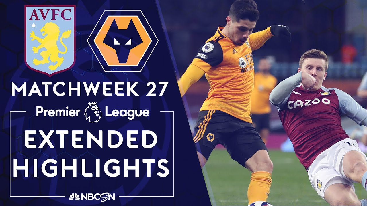 Aston Villa v. Wolves | PREMIER LEAGUE HIGHLIGHTS | 3/6/2021 | NBC Sports