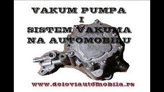 Vakum pumpa i sistem vakuma u automobilima