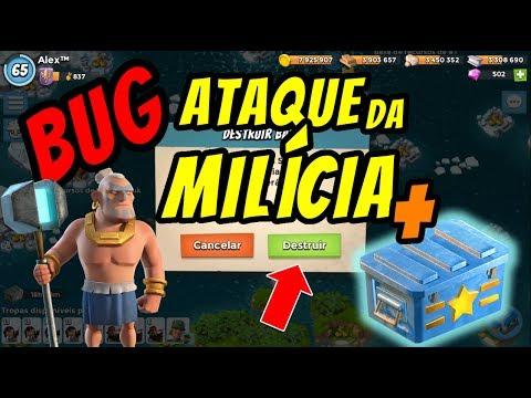 ★BUG★ ATAQUE DA MILÍCIA + BAÚ DE SUPRIMENTOS   BOOM BEACH   ATAQUE PP E ZUCA DEBAIXO DA FUMAÇA