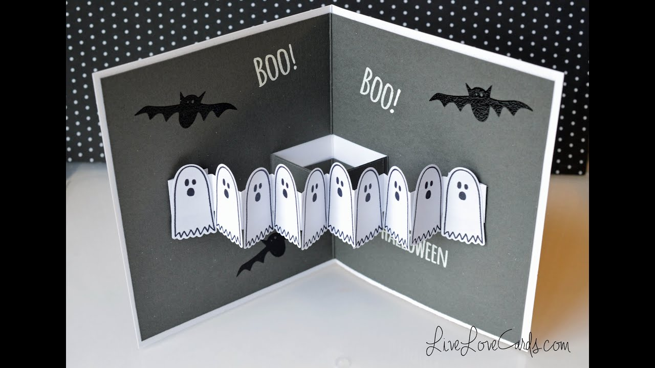 Halloween ghost popup card youtube for Popup house youtube