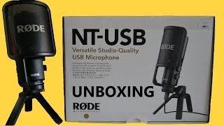 Rode NT USB microphone unboxing