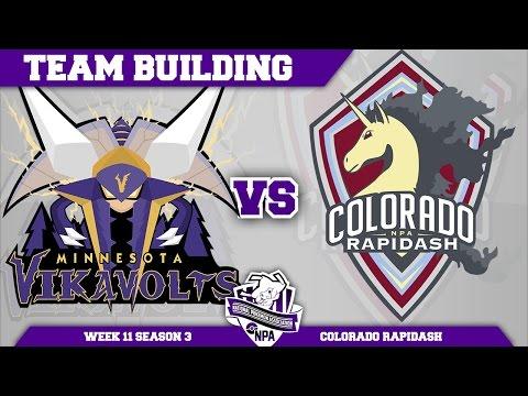 Minnesota Vikavolts Team Building NPA S3 Week 11: VS Colorado Rapidash | Pokemon Sun and Moon
